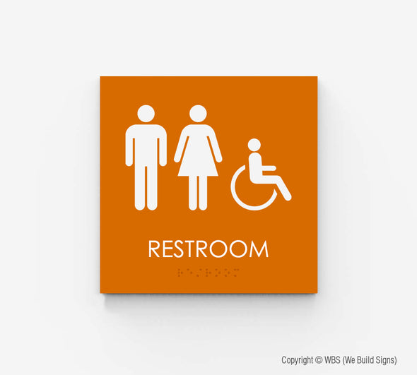 Unisex Handicap Accessible Restroom Sign - ECO 12 - WeBuildSigns (WBS)