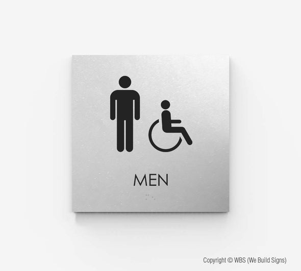 Men's Handicap Accessible Restroom Sign - ECO 14 - WeBuildSigns (WBS)