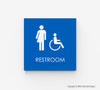 Gender Neutral Handicap Accessible Restroom Sign - ECO 15 - WeBuildSigns (WBS)