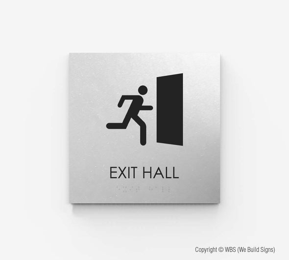 Hall Exit Sign - ECO 17 - WeBuildSigns (WBS)