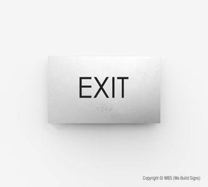 Exit Sign - ECO 18 - WeBuildSigns (WBS)