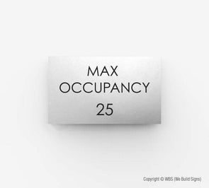 Max Occupancy Sign - ECO 19 - WeBuildSigns (WBS)