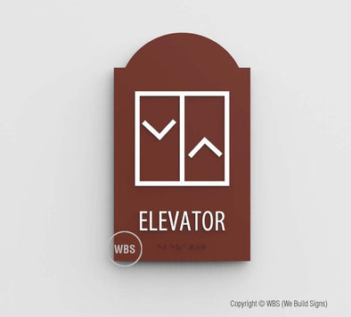 Elevator Sign - MIR 01 - WeBuildSigns (WBS)