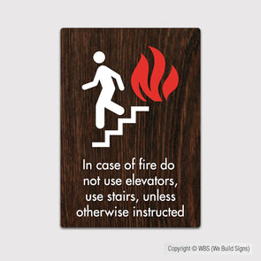 In Case Of Fire Use Stairway Sign - FUL 01 - WeBuildSigns (WBS)