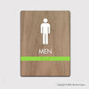 Men's Restroom Sign - FUL 08 - WeBuildSigns (WBS)