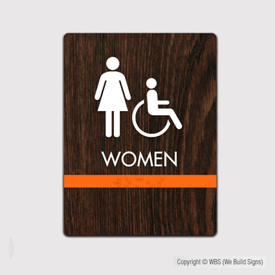 Women's Handicap Accessible Restroom Sign - FUL 13 - WeBuildSigns (WBS)