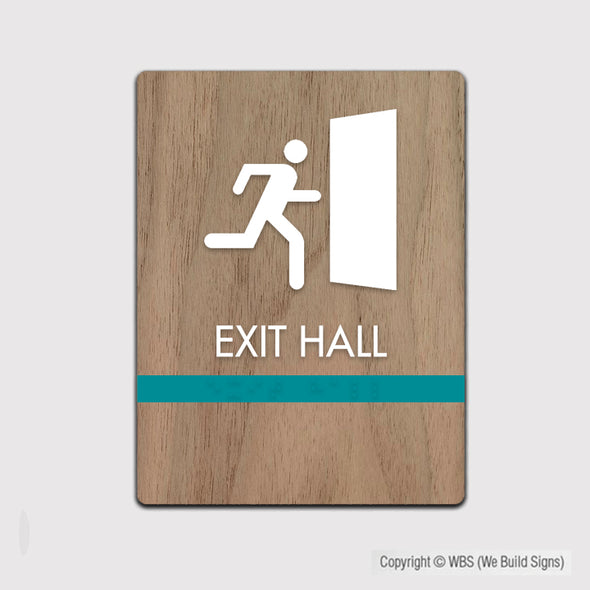 Exit Hall Sign - FUL 17 - WeBuildSigns (WBS)