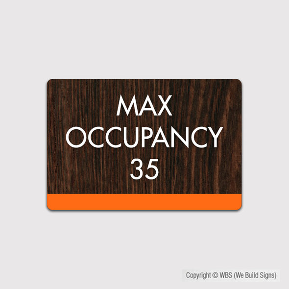 Max Occupancy Sign - FUL 19 - WeBuildSigns (WBS)