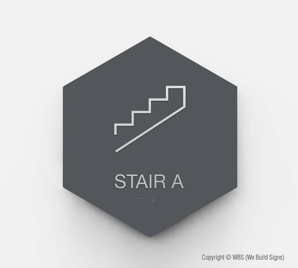 Stair Sign - GEO 13 - WeBuildSigns (WBS)
