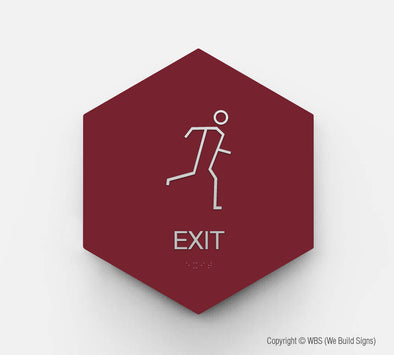 Hall Exit Sign - GEO 14 - WeBuildSigns (WBS)