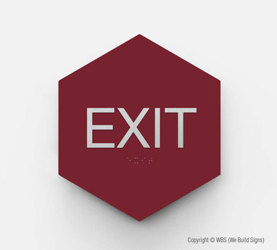 Exit Sign - GEO 15 - WeBuildSigns (WBS)