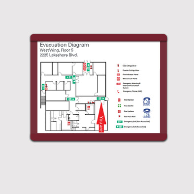 Map Insert Sign - GEO 19 - WeBuildSigns (WBS)