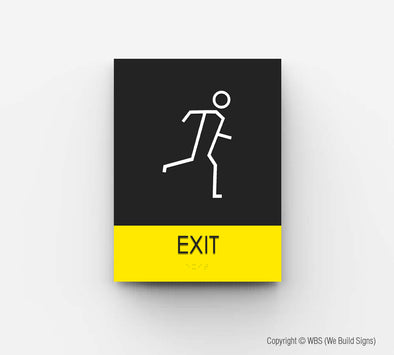 Hall Exit Sign - HOR 15 - WeBuildSigns (WBS)