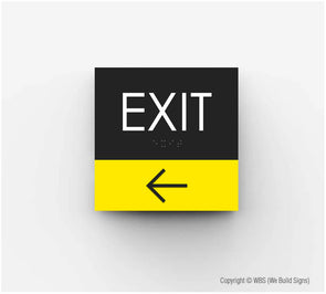 Exit ADA Sign - HOR 19 - WeBuildSigns (WBS)