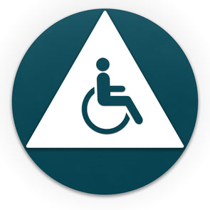 Title 24 - California ADA Accessible Unisex Handicap Restroom Sign - WeBuildSigns (WBS)