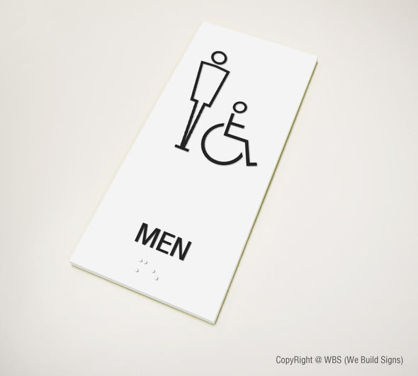 Men's Handicap Accessible Restroom Sign - MST 10 - WeBuildSigns (WBS)