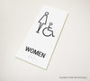 Women's Handicap Accessible Restroom Sign - MST 11 - WeBuildSigns (WBS)