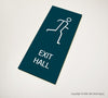Exit Hall Sign - MST 16 - WeBuildSigns (WBS)