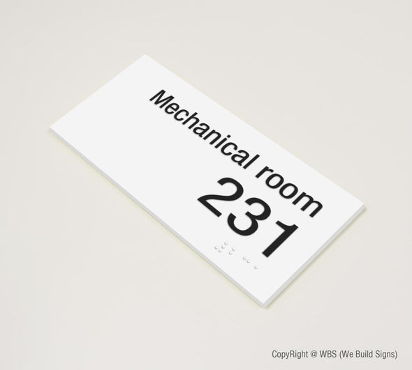 Room Name & Number Sign - MST 18 - WeBuildSigns (WBS)