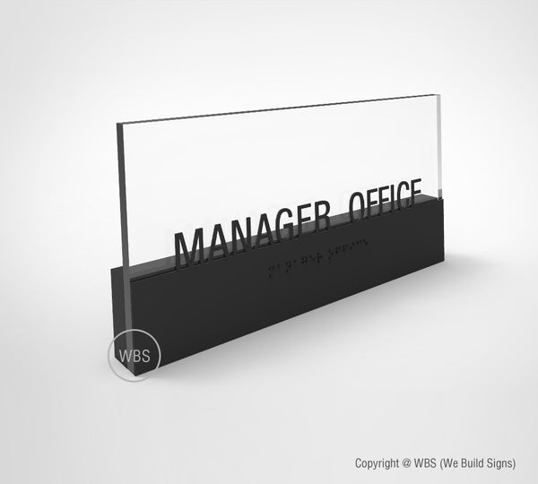 Manager office sign
