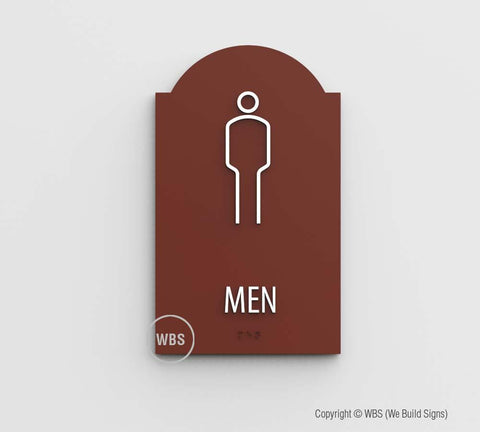 mens restroom sign - ada mens bathroom signs - mira style