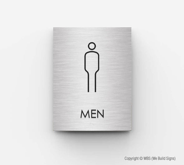 Men's Bathroom Sign - NOA 03 - WeBuildSigns (WBS)