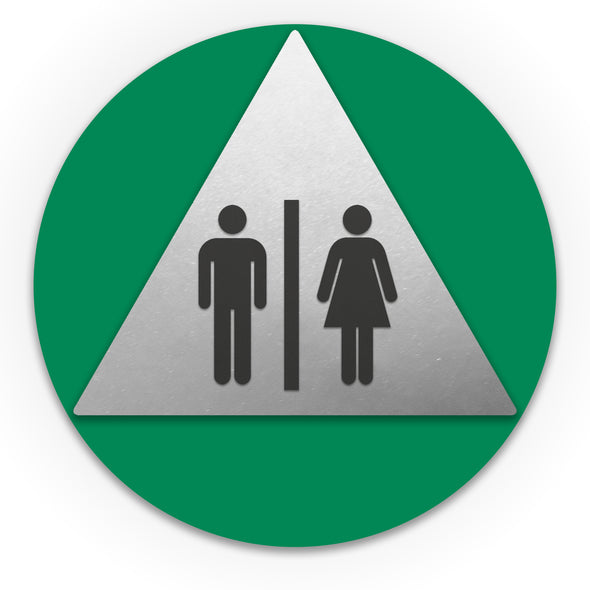 Title 24 - California ADA Accessible Unisex Restroom Sign (With Symbol) - WeBuildSigns (WBS)
