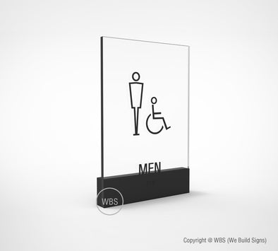 Male Handicap Restroom Sign - PRE 12 - WeBuildSigns (WBS)