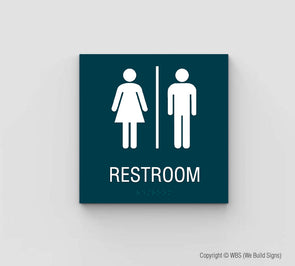 Unisex Restroom Sign - SDY 04 - WeBuildSigns (WBS)