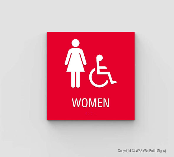 Women's ADA Restroom Sign - SDY 10 - WeBuildSigns (WBS)