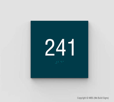 Unit Number Sign - SDY 11 - WeBuildSigns (WBS)