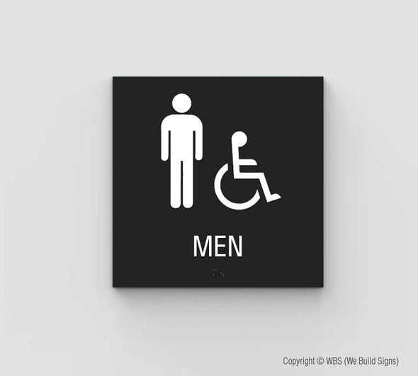 Men's ADA Restroom Sign - SDY 12 - WeBuildSigns (WBS)
