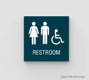 Unisex ADA Restroom Sign - SDY 13 - WeBuildSigns (WBS)