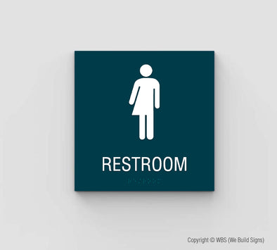 Gender Neutral Restroom Sign - SDY 14