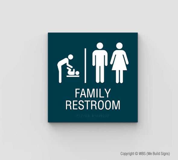 Family Restroom Sign - SDY 16