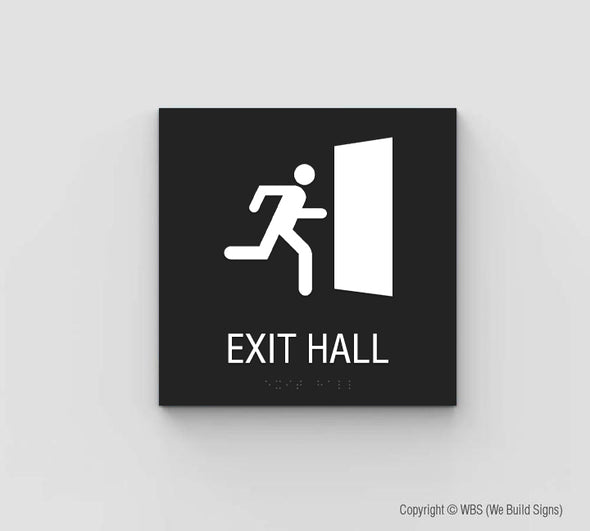 Exit Hall Sign - SDY 18
