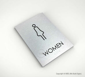 Women's Restroom Sign - NOA 06 - WeBuildSigns (WBS)