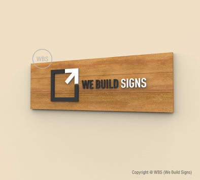 Horizontal Wooden Lobby Sign - HLS 03 - WeBuildSigns (WBS)