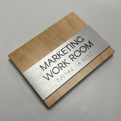 Custom Office Door Sign - ADA Compliant - WOS 01
