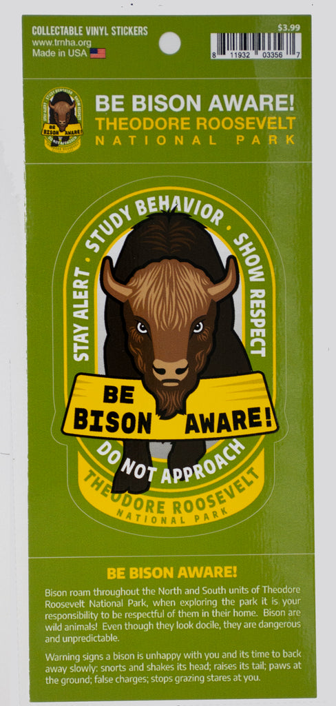 Bison Safety Sticker