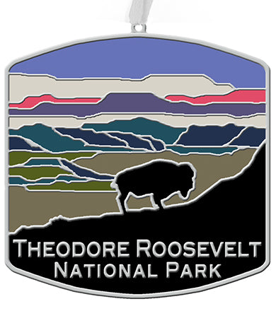 TRNP Bison Metal Christmas Ornament