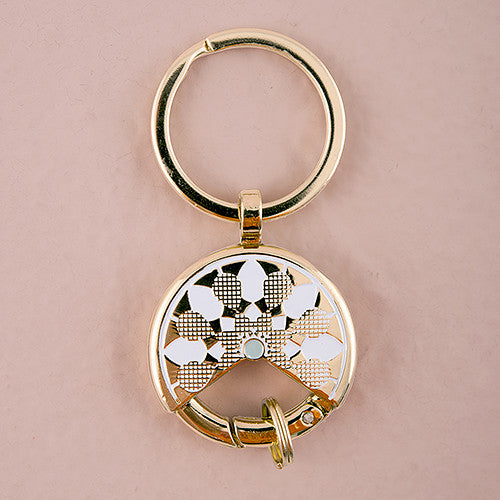 Package of 6 Gold Dreamcatcher Inspired Key Ring Favor