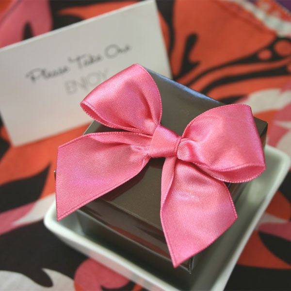 Set of 12 Pre-tied Satin Bows