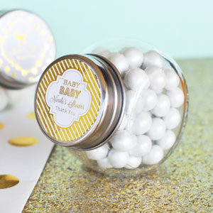 Personalized Foil Baby Shower Mini Jar