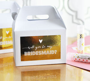 (Set of 8)  Bridesmaid & Maid of Honor Question Boxes