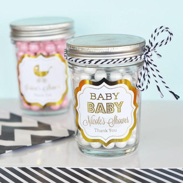 Personalized Foil Baby Shower Frame Label ( Min 24 Labels )