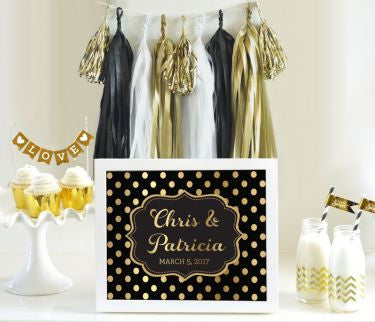 Gorgeous Personalized Text Sign – Metallic Foil