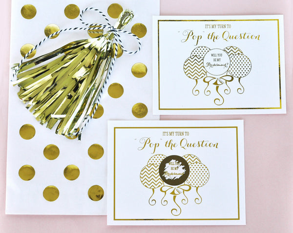 Pop The Question Bridesmaid Cards (set of 8)