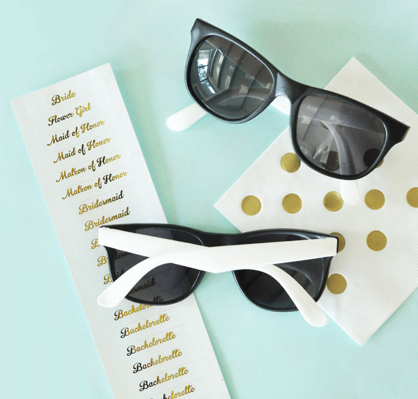 Fun White Bridal Party Sunglasses (set of 6)