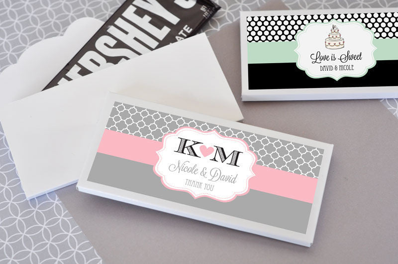 Personalized Theme Candy Wrapper Covers ( Min 24) - Pearls & Lilies